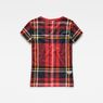 G-Star RAW® Royal Tartan X25 Print Straight T-Shirt Red model side
