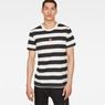 G-Star RAW® Prison Stripe X25 Print T-Shirt   White model front