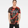 G-Star RAW® Blaze Orange Camouflage X25 Print T-Shirt   Orange model front