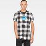 G-Star RAW® Shepherd's Check X25 Print T-Shirt White model front