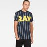 G-Star RAW® Wabash Stripe X25 Print T-Shirt   Dark blue model front