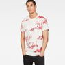 G-Star RAW® Toile de Jouy X25 Print T-Shirt  Weiß model front