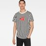 G-Star RAW® Hickory Stripe X25 Print T-Shirt   Black model front