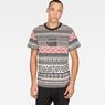 G-Star RAW® Mayan Glyphs X25 Print T-Shirt   Black model front
