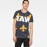 G-Star RAW® Fleur de Lys X25 Print T-Shirt  Dark blue model front