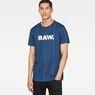 G-Star RAW® Pinstripe X25 Print T-Shirt  Medium blue model front