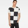 G-Star RAW® Chef's Check X25 Print T-Shirt   Black model front