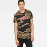 G-Star RAW® Tigerstripe Camouflage X25 Print T-Shirt   Brown model front