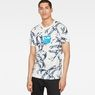 G-Star RAW® Chinoiserie X25 Print T-Shirt    White model front