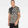 G-Star RAW® Persian Geometric X25 Print T-Shirt   Black model front