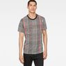 G-Star RAW® Prince Of Wales Check X25 Print T-Shirt  Black model front