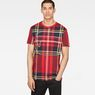 G-Star RAW® Royal Tartan X25 Print T-Shirt   Red model front