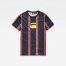 G-Star RAW® Regimental Stripe X25 Print T-Shirt Dark blue model front
