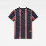 G-Star RAW® Regimental Stripe X25 Print T-Shirt Dark blue model side