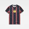 G-Star RAW® Regimental Stripe X25 Print T-Shirt   Dark blue model front