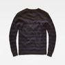 G-Star RAW® Dadin Stripe Knit Black flat back