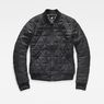 G-Star RAW® Rackam Deconstructed Padded Slim Bomber Black flat front