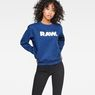 G-Star RAW® Core Boyfriend Sweater Dark blue model front