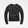 G-Star RAW® Rackam Cropped Sweater Black flat back