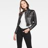 G-Star RAW® Aefon Cropped Biker Jacket Black model front