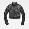 G-Star RAW® Aefon Cropped Biker Jacket Black flat front