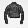 G-Star RAW® Aefon Cropped Biker Jacket Black flat back