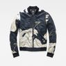 G-Star RAW® Rackam Deconstructed Padded Slim Bomber Grün flat front
