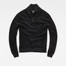 G-Star RAW® RC Tain Shawl Structure Knit Black flat front