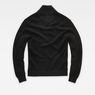 G-Star RAW® RC Tain Shawl Structure Knit Black flat back