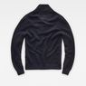 G-Star RAW® RC Tain Shawl Structure Knit Dark blue flat back
