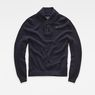 G-Star RAW® RC Tain Shawl Structure Knit Dark blue flat front
