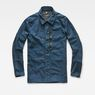 G-Star RAW® Rackam Zip Overshirt Medium blue flat front