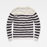 G-Star RAW® Dadin Stripe Knit White flat back