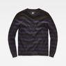 G-Star RAW® Dadin Stripe Knit Black flat front