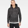 G-Star RAW® Core Hoc Hooded Zip Sweater Grey model front