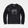 G-Star RAW® Monthon Sweater Black flat front