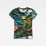 G-Star RAW® Aloha X25 Print Straight T-Shirt  Green model front