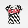 G-Star RAW® Dazzle Camouflage X25 Print Straight T-Shirt White model front