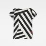G-Star RAW® Dazzle Camouflage X25 Print Straight T-Shirt White model side