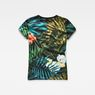 G-Star RAW® Aloha X25 Print Straight T-Shirt  Green model side