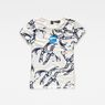 G-Star RAW® Chinoiserie X25 Print Straight T-Shirt  White model front