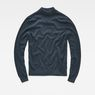 G-Star RAW® Core Mock Turtle Knit Mittelblau flat front