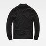 G-Star RAW® RC Core Mock Turtle Knit Black flat front