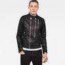 G-Star RAW® Deline Hybrid Archive GPL Biker Jacket Black model front