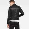 G-Star RAW® Deline Hybrid Archive GPL Biker Jacket Black model back