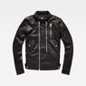 G-Star RAW® Deline Hybrid Archive GPL Biker Jacket Black flat front