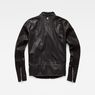 G-Star RAW® Deline Hybrid Archive GPL Biker Jacket Black flat back