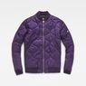 G-Star RAW® Meefic Bomber Overshirt Purple flat front