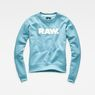 G-Star RAW® Core Boyfriend Sweater Hellblau flat front
