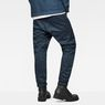 G-Star RAW® D-Staq Deconstructed Tapered Cuffed Chino Medium blue model back